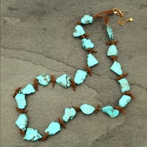 """Turquoise Natural Stone 30"""" Necklace."""